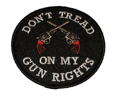 DON'T TREAD ON MY GUN RIGHTS W/ CROSSED PISTOLS PATCH 2ND SECOND AMENDMENT