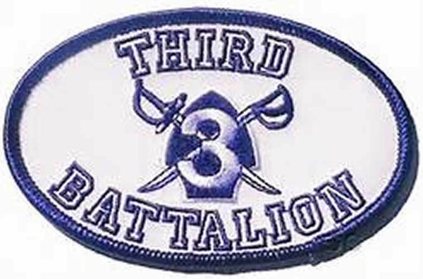 3RD THIRD RECRUIT TRAINING BATTALION RTBN PATCH MCRD PARRIS ISLAND SAN DIEGO