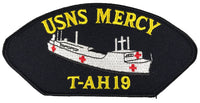 US Navy USNS Mercy T-AH 19 Patch - Veteran Owned Business