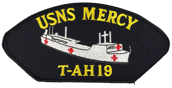 US Navy USNS Mercy T-AH 19 Patch - Veteran Owned Business - HATNPATCH
