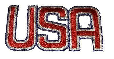 RED WHITE BLUE USA CUTOUT PATCH AMERICA PATRIOTIC UNITED STATES - HATNPATCH