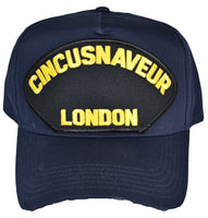 United States Naval Forces Europe London CINCUSNAVEUR Hat - NAVY BLUE - Veteran Owned Business