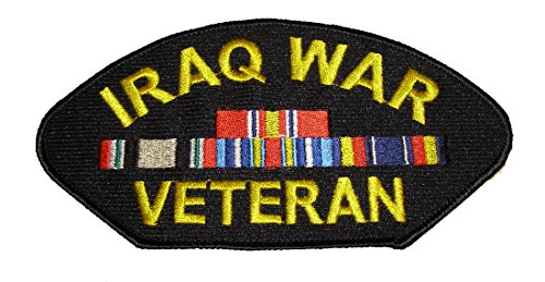 IRAQ WAR VETERAN w/4 RIBBONS PATCH - Veteran Owned Business