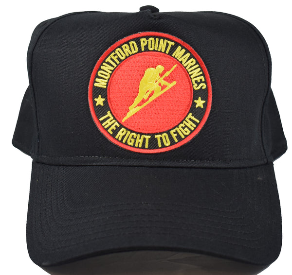 MONTFORD POINT MARINES HAT - BLACK - Veteran Owned Business