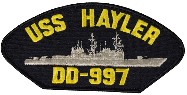 USS HAYLER DD-997 SHIP PATCH - GREAT COLOR - Veteran Owned Business