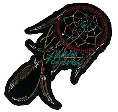 WILD FOREVER DREAM CATCHER PATCH FEATHER NATIVE INDIAN AMERICAN INDIGENOUS - HATNPATCH