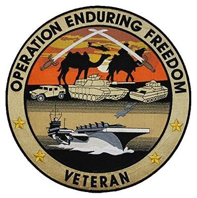 OPERATION ENDURING FREEDOM LARGE BACK PATCH OEF AFGHANISTAN VETERAN JOINT