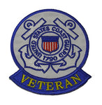 UNITED STATES COAST GUARD 1790 VETERAN Patch With Tab - Color - Veteran Owned Business. - HATNPATCH