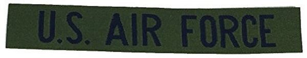U.S. AIR FORCE NAME TAPE STYLE Patch - Blue/OD Green - Veteran Owned Business.