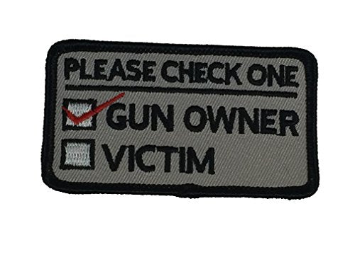 PLEASE CHECK ONE: GUN OWNER OR VICTIM PATCH - Color - Veteran Owned Business