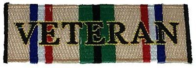DESERT STORM VETERAN CAMPAIGN RIBBON PATCH ODS SHIELD GULF WAR IRAQ KUWAIT SAUDI