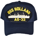 USS HOLLAND AS-32 HAT - NAVY BLUE - Found per customer request! Ask Us!