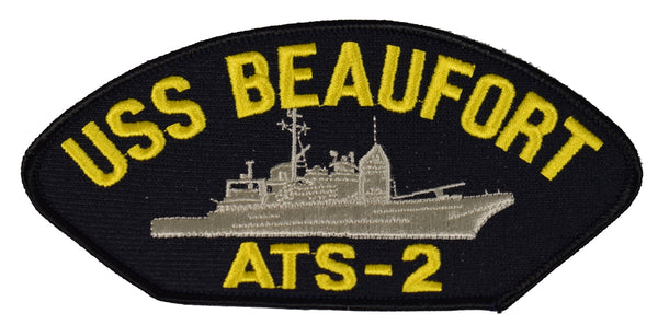 USS BEAUFORT ATS-2 SHIP PATCH - GREAT COLOR - Veteran Owned Business