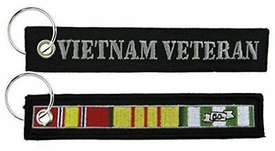VIETNAM VETERAN W/ CAMPAIGN RIBBONS KEY CHAIN NAM VET SOUTH EAST ASIA - HATNPATCH