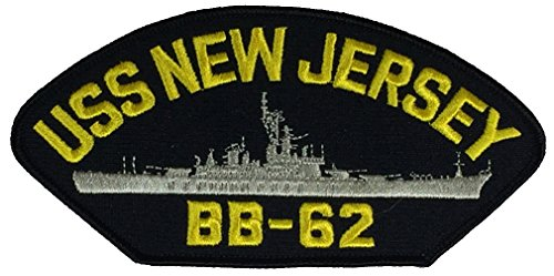 USS NEW JERSEY BB-62 PATCH - Multi-colored - Veteran Owned Business