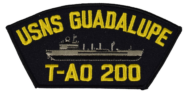 USNS GUADALUPE T-AO 200 SHIP PATCH - GREAT COLOR - Veteran Owned Business