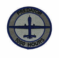 PREDATOR MQ-1 1000 HOURS PATCH UAV UAS UNMANNED AERIAL VEHICLE RECONNAISSANCE