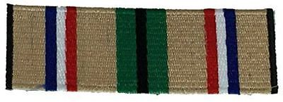 DESERT STORM CAMPAIGN RIBBON PATCH ODS SHIELD GULF WAR VETERAN IRAQ KUWAIT SAUDI