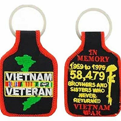 VIETNAM VETERAN IN MEMORY KEY CHAIN NAM VET SOUTHEAST ASIA POW MIA REPUBLIC OF - HATNPATCH