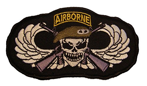 SPECIAL FORCES AIRBORNE with SKULL WINGS AND CROSS RIFLES PATCH - Color - Veteran Owned Business