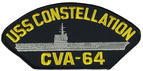 USS CONSTELLATION CVA-64 PATCH - Multi-colored - Veteran Owned Business