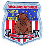 USCG COAST GUARD AIR STATION KODIAK ALASKA SEARCH AND RESCUE FLIGHT PATCH BEAR - HATNPATCH
