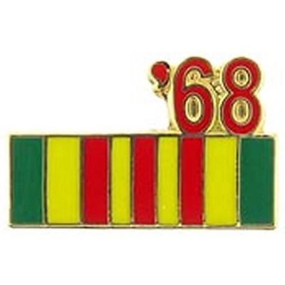 1968 VIETNAM SERVICE RIBBON LAPEL OR HAT PIN - HATNPATCH