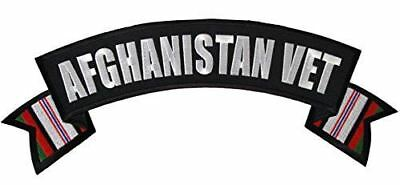 LARGE AFGHANISTAN TOP ROCKER PATCH OEF ENDURING FREEDOM CAMPAIGN RIBBON