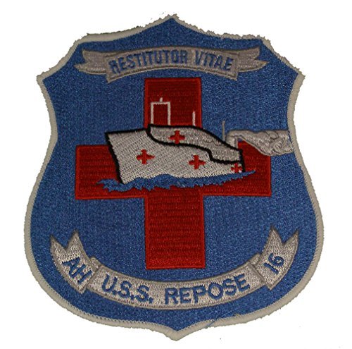 USS REPOSE HOSPITAL SHIP AH-16 RESTITUTOR VITAE PATCH - Standout Colors - Veteran Owned Business.