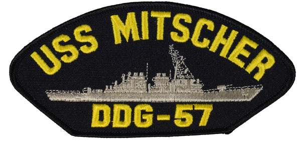 USS MITSCHER DDG-57 SHIP PATCH - GREAT COLOR - Veteran Owned Business