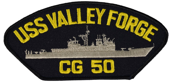 USS VALLEY FORGE CG 50 SHIP PATCH - GREAT COLOR - Veteran Owned Business