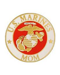 Marine Mom Round Pin
