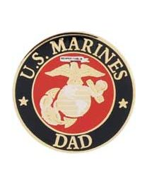 Marine Dad Round Pin