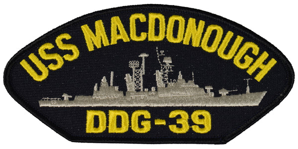 USS MACDONOUGH DDG-39 SHIP PATCH - GREAT COLOR - Veteran Owned Business