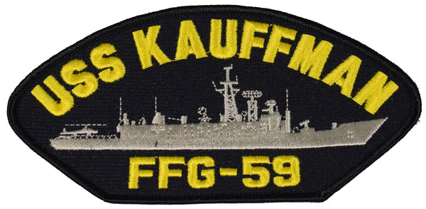 USS KAUFFMAN FFG-59 SHIP PATCH - GREAT COLOR - Veteran Owned Business