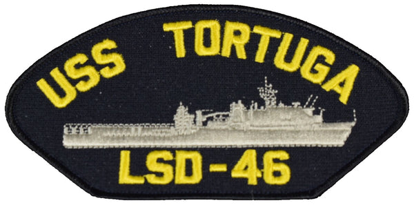 USS TORTUGA LSD-46 SHIP PATCH - GREAT COLOR - Veteran Owned Business - HATNPATCH