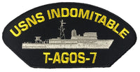 USNS INDOMITABLE T-AGOS-7 SHIP PATCH - GREAT COLOR - Veteran Owned Business