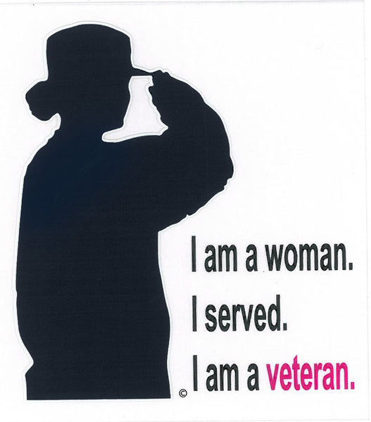 Woman Veteran Silhoutte Decal