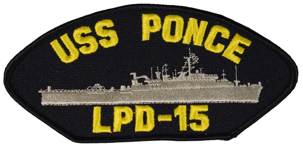 USS PONCE LPD-15 SHIP PATCH - GREAT COLOR - Veteran Owned Business - HATNPATCH
