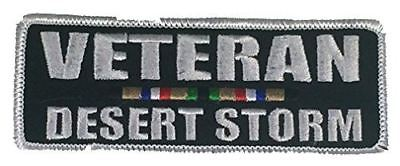 VETERAN DESERT STORM WITH CAMPAIGN RIBBON PATCH SERVICE GULF WAR ODS IRAQ KUWAIT