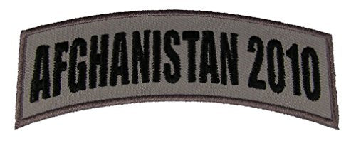 AFGHANISTAN 2010 TAB DESERT ACU TAN ROCKER PATCH - Veteran Owned Business.