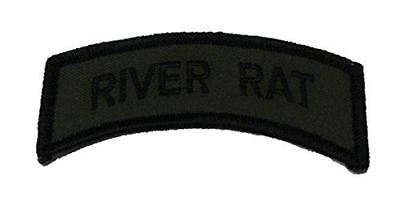 VIETNAM RIVER RAT TAB OD OLIVE DRAB TOP ROCKER PATCH BROWN WATER NAVY PBR MRF - HATNPATCH
