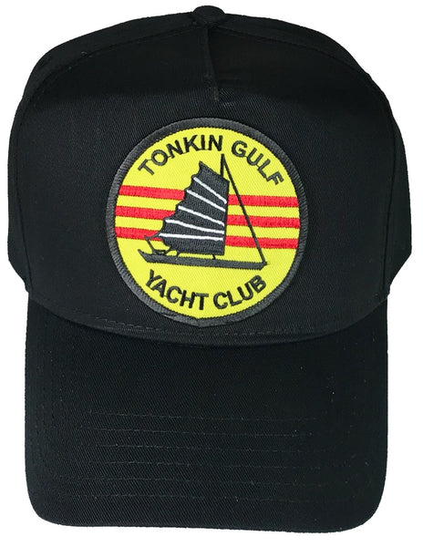 TONKIN GULF YACHT CLUB HAT - BLACK GOLF STYLE - Veteran Owned Business