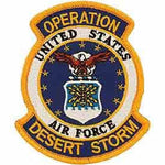 UNITED STATES AIR FORCE OPERATION DESERT STORM PATCH - Bright Colors - Veteran Owned Business. - HATNPATCH