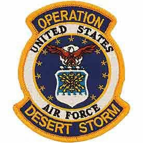 UNITED STATES AIR FORCE OPERATION DESERT STORM PATCH - Bright Colors - Veteran Owned Business.