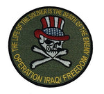 THE LIFE OF THE SOLDIER IS THE DEATH OF THE ENEMY OIF PATCH - COLOR - Veteran Owned Business
