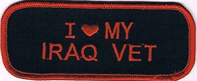 I LOVE HEART MY IRAQ VET PATCH OPERATION IRAQI FREEDOM OIF SPOUSE FAMILY FRIEND
