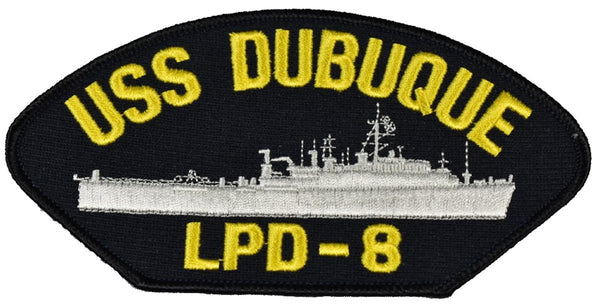 USS DUBUQUE LPD-8 SHIP PATCH - GREAT COLOR - HATNPATCH