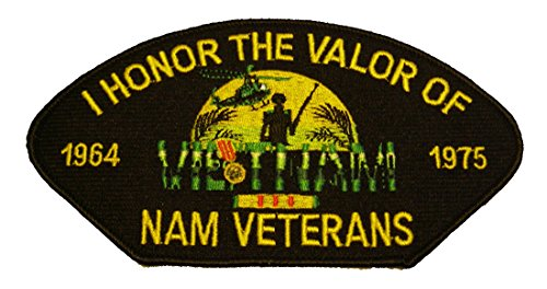 I HONOR THE VALOR OF NAM VETERANS 1964-1975 Patch - Veteran Owned Business - HATNPATCH