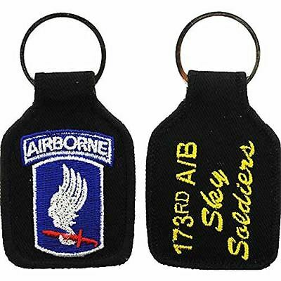 US ARMY 173RD AIRBORNE BRIGADE COMBAT TEAM BCT SKY SOLDIERS KEY CHAIN VICENZA - HATNPATCH